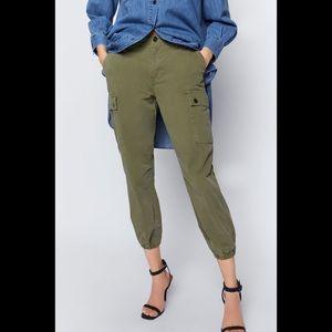 NWT Zara Cargo Trousers Green 2